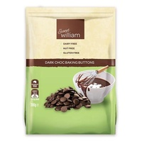 Sweet William Dark Choc Baking Buttons 300g