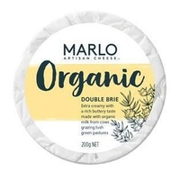 Marlo Organic Double Brie 200g