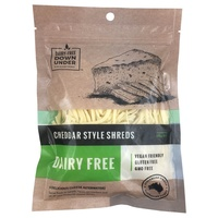 Dairy Free Down Under Cheddar Shreds 200g