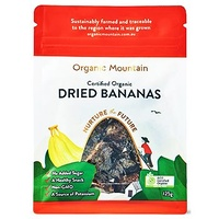 Organic Mountain Dried Bananas 125g