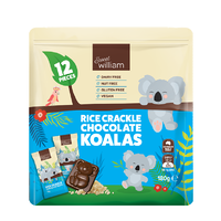 Sweet William Rice Crackle Chocolate Koalas Multipack 180g