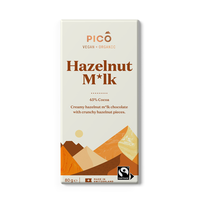Pico Hazelnut Milk Chocolate 80g