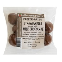 Totally Pure Fruits Strawberries Milk Chocolate 100g
