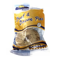 Gluten Free Bakery Beef & Bacon Pies 2 Pack