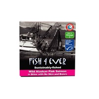 Fish 4 Ever Sustainably Fished Wild Alaskan Pink Salmon In Brine 160g