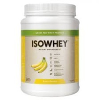 Isowhey Wheight Management Banana Smoothie - Grassfed Whey Protein 672g