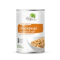 Global Organics Chickpeas Organic (No Added Salt) 400g