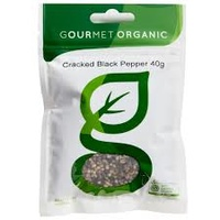 Gourmet Organic Herbs Organic Cracked Black Pepper 40g