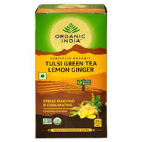 Organic India Organic Lemon Ginger Tulsi Tea 25 bags
