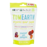 YumEarth Organic Sour Pops (14 Pack) 85g