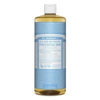 Dr Bronners Unscented Baby Mild Castille Soap 946ml