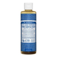 Dr Bronners Peppermint Castile Liquid Soap 237ml
