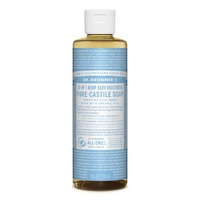 Dr Bronners Unscented Baby Mild Castile Liquid Soap 237ml