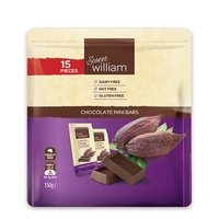 Sweet William Dairy Free Chocolate Mini Bars (15 Pieces) 150g