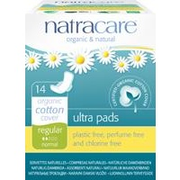 Natracare Organic Cotton Regular Ultra Pads 14 pack With Wings