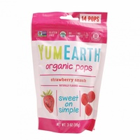 YumEarth Organic Strawberry Pops (14 Pack) 85g