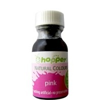Hoppers Natural Colours Pink Food Colouring 20g