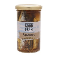 Good Fish Sardines in Extra Virgin Olive Oil  260g {Jar}
