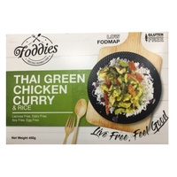 Foddies Thai Green Chicken Curry & Rice 350g