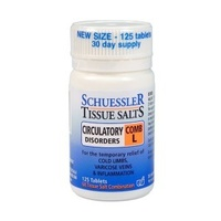 Schuessler Tissue Salts - Comb L: Circulatory Disorders - 125 tabs