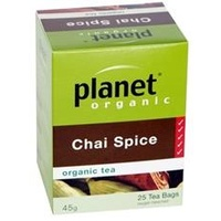 Planet Organic Chai Spice Tea - 25 Teabags