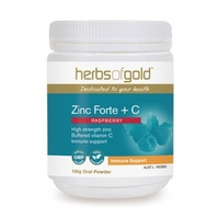 Herbs of Gold Zinc Forte + C - Raspberry Flavour- 100g