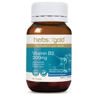 Herbs of Gold Vitamin B2 200mg - 60 tabs