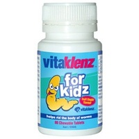 Vitaklenz for Kidz Herbal Worms Treatment 80 Chewable Tablets