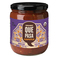 Organic Que Pasa Chipotle Medium Salsa 454g