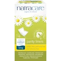 Natracare Organic Cotton Panty Liners - Long 16 Pack