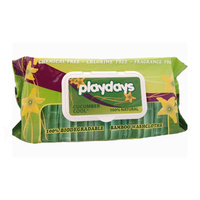 Playdays Baby Wipes Bamboo Washcloths Cucumber Cool 80 Pack