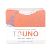 Tsuno Natural Bamboo Ultra Thin Panty Liners (20 Pack)