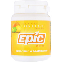 Epic Xylitol Chewing Gum Fresh Fruit (50 Pieces)