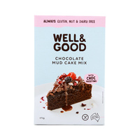 Well & Good Gluten Free Chocolate Mud Cake Mix 475g