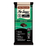 (No added Sugar) Mint Crisp Dark Chocolate 90g
