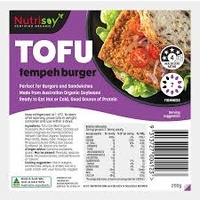 Nutrisoy Tofu with Tempeh Burger 200g
