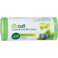 Biotuff General Use Bin Liners Large 60L (25 Pack)