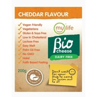 My Life Bio Cheese Dairy Free Cheddar Flavour Block 200g