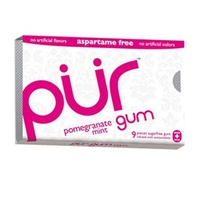 Pur Pomegranate Mint GUM Aspartame Free (9 Pieces) 12.6g