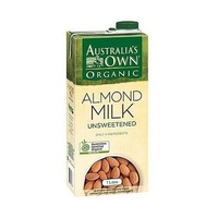 Australias Own Organic Unsweetened Almond Milk 1L