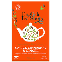 English Tea Shop Organic Cacao Cinnamon & Ginger (20 Sachets) 35g