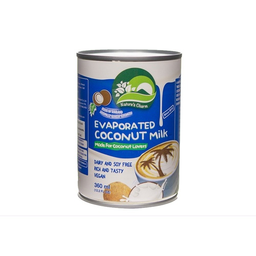 Natures Charm Evaporated Coconut Milk (Can) 360ml