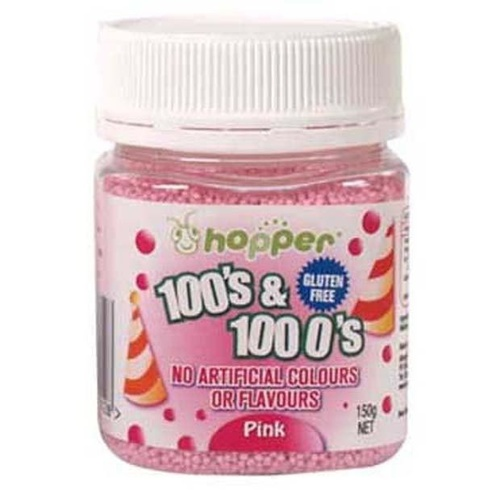 Hoppers  Gluten Free 100's & 1000's Pink 150g