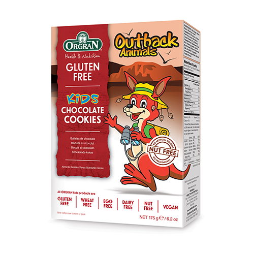 Orgran Chocolate Cookies Outback Animals 175g