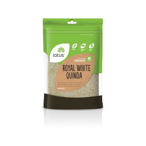Lotus Organic Royal White Quinoa Grain 600g