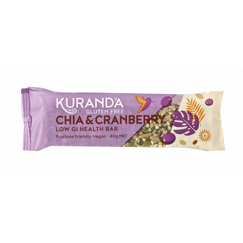 Kuranda Chia Cranberry Bar 40g